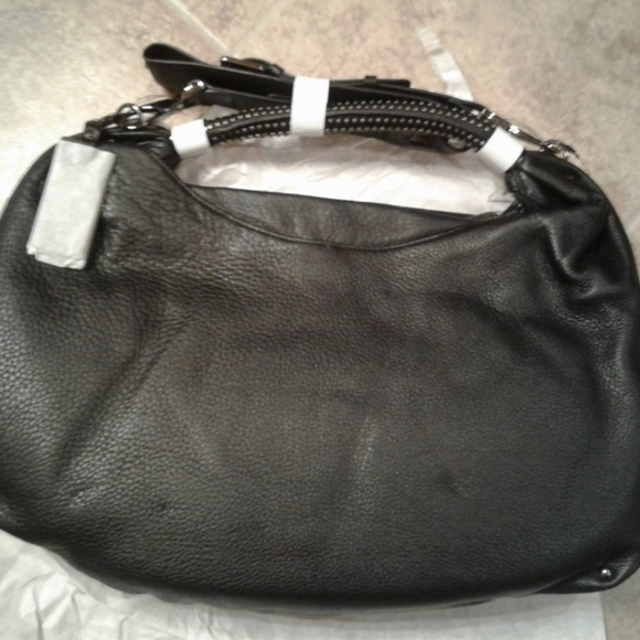 e612f0d8f5 No Slouch Black Leather Hobo Bag. NWT. Kenneth Cole